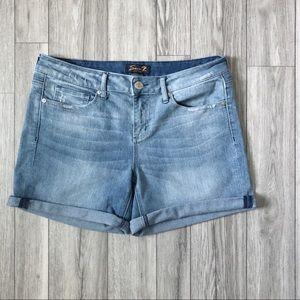 Seven7 Jeans Shorts boyfriend 12 Cuffed